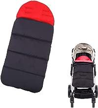 Topwon Universal Stroller Sleeping Bag Baby Footmuff Warmer for Pushchairs Waterproof, Windproof (Red)