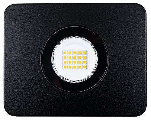 Heitronic LED Strahler Bolton schwarz 20 Watt IP65 mit Bügel warmweiß 1600 Lumen mit Erdspieß