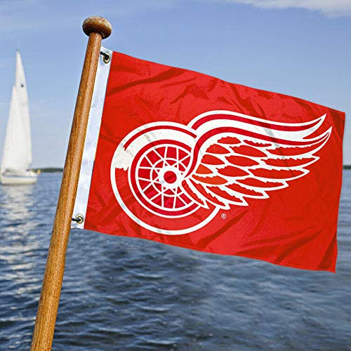Detroit Red Wings Boat and Golf Cart Flag