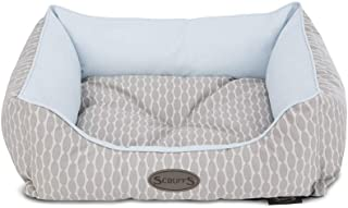 Scruffs Dog Siesta Box Bed, 70cm x 90cm, Cool Blue