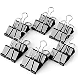 40 Pcs Medium Size Binder Clips 1.25 Inch Width for Office