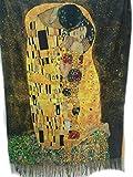 Arte Sciarpa donna double face klimt van gogh maxi sciarpa foulard mantella viscosa (Bacio di Klimt)