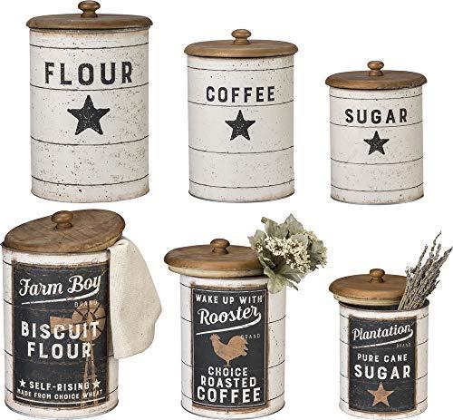 Primitives by Kathy Farmhouse - Botes de Lata, azúcar, café, harina