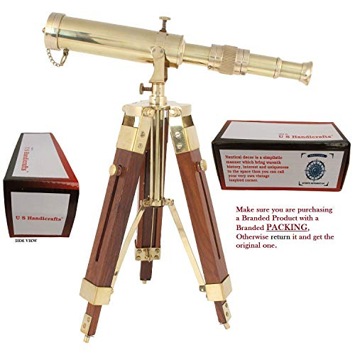 "Vintage Nautical Telescope Antique Brass Collectible Pirate 16.5/"" Spyglass Scope"