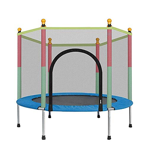 LWXXXA Trampoline, Fitness Trampoline, Indoor And Outdoor With Safety Enclosure Net Mini Trampolines Adults Kids Indoor Exercise, Jump Training