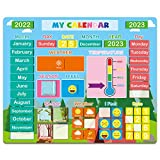 Daily Magnetic Calendar for Kids, 2021 Magnetic Educational Toy for Toddlers, Preschool Learning Gift for Boys Girls School Home Fridge, Education Craft Supplies for Preschool Kindergarten