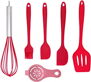 Silicone Spatula Set,Heat Resistant Flexible Spatula,Grade Premium Kitchen Utensils with Good Grip -Seamless,Rubber Spatul...