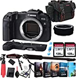 Canon EOS RP Mirrorless Camera Body (NO Lens) + 256GB Memory + Extension Grip + Photo Editing Software + Accessory Bundle (27pcs)