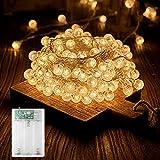 Cadena de luces LED, funciona con pilas, 6 m, 40 luces LED, impermeable, para exterior, interior, fiesta, boda