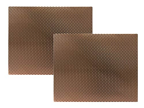 Copper Counter Table Protector Mat - 14  x 17  - 2 Pack
