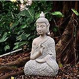 Bata Buda Decoración Adorno Sentado Estatua Meditando En Impresionante Acabado -...