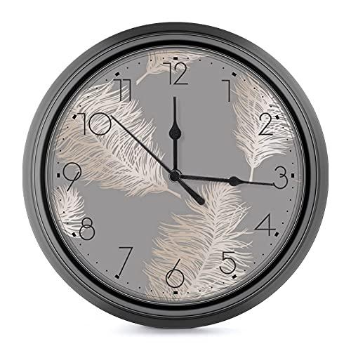 Reloj de pared redondo de 9,6 pulgadas, funciona con pilas, no hace tictac, retro, decorativo, para sala de estar, cocina, dormitorio, lectura de mujer japonesa