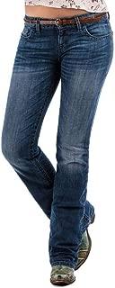 Cruel Girl Western Jeans Womens Abby Slim Bootcut Stonewash CB11654071