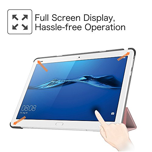 Fintie Huawei Mediapad M3 Lite 10 Hülle - Ultra Dünn Superleicht SlimShell Case Cover Schutzhülle Etui Tasche mit Zwei Einstellbarem Standfunktion für Huawei Mediapad M3 Lite 10 Zoll, Roségold - 4