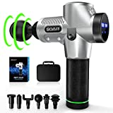 Massage Gun, Powerful 30 Speed Percussion Massage Gun, Deep Tissue Massage Gun, Electric Handheld Quiet, Deep Muscle Massager Gun, Relieve Muscle Pain, 6 Massage Heads for Different Muscle Groups