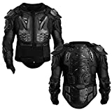 Chiwell Motorcycle Full Body Armor Protective Gear Jacket Shirt Protector for Adult, Black, Large