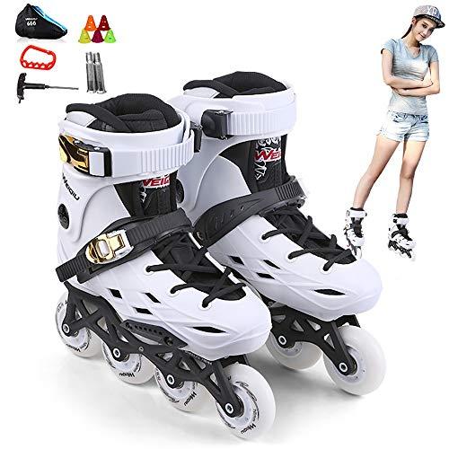 DODOBD Patines de Ruedas en Línea ranspirables Roller Skates con ABEC-7 PU Ruedas para Niños Adolescentes Cómodos Niños Adultos Hombres Mujeres Patinaje Profesional PU 35-44