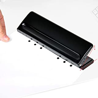 Perforatrice à 6 trous, réglable en métal, organiseur universel, capacité de 6 feuilles, trou de 1,27 cm de diamètre pour ...