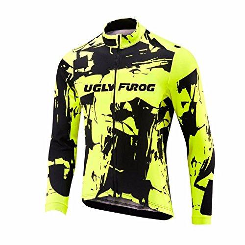Uglyfrog Magliette Ciclismo 2018 Nuovo Invernale Uomo Sport Termico Manica Lunga Maglia Bicicletta Abbigliamento Road Bike Moda WLMZ04