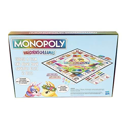 Monopoly Unicorns vs. Llamas Jeu de société pour les 8 ans et plus; - 4