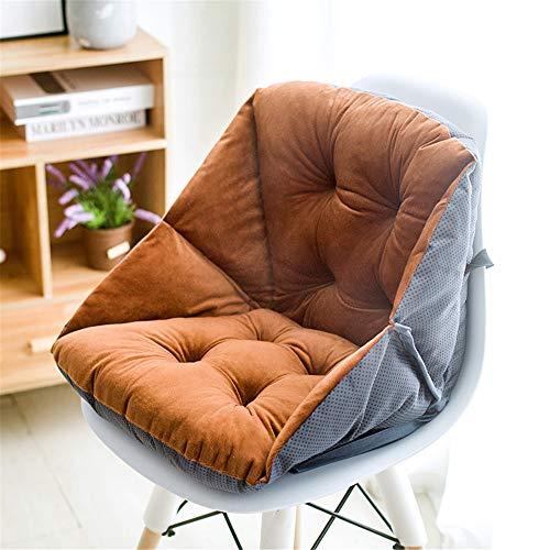 Auflage Stuhlauflage Gartenstuhl Sitzkissen Niedriglehner Sitzpolster Polsterauflage für Zuhause Büro Patio Yard Garten (Kaffee,42×48×23cm)