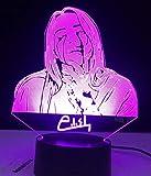 Lámpara LED 3D de Billie Eilish,cantante famosa,ilusión,7 colores,mesa cambiante,luz nocturna,lámpara de decoración de cabecera para bebé,regalo para fan
