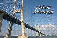 大人のためのジグソーパズルポルトガルバスコダガマ橋リスボンパズル1000ピース木製旅行のお土産