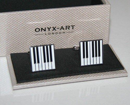 Boutons de manchette – PIANO/Clavier carré manchette Design * * * * * * * * NEUF * * * * * * * * Cadeau