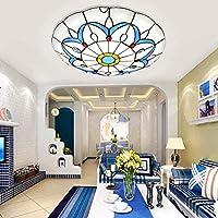 天井ランプ、バスルームライト 地中海の天井灯シンプルな寝室のリビングルームの調査クローク室の装飾的な天井灯、シェード30 (Color : White Light40)