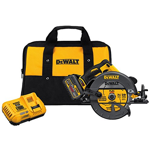 DEWALT FLEXVOLT 60V MAX Circular Saw with Brake Kit, 7 1/4-Inch, Brushless, Fast Charger (DCS575T1)