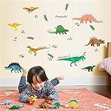 Sencillo Vida Dinosaurio Pegatinas de Pared Vinilo Adhesivo Decorativo para Bebé NiñOs De GuarderíA Infantil DecoracióN Mural De La Pared De La Etiqueta Engomada De La Decoración 50x70cm