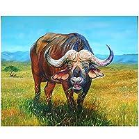KBIASD diyダイヤモンドペインティングブル5Dダイヤモンドモザイクフルスクエアドリルダイヤモンド刺繍クロスステッチ動物の牛の写真家の装飾-40x50cmフレームなし