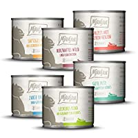 Complete wet cat food - extra high proportion of meat - essential vitamins and minerals - grain free For our meals, we mainly use ingredients that come from regional farms MjAMjAM - because it`s tasty Free from: Cereals, gluten, sugar, synthetic pres...