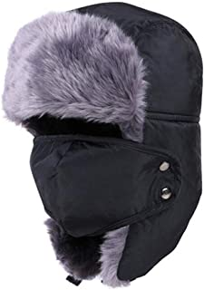 Kastma Unisex Winter hat with Ear Flaps Fur hat Art Fur hat Aviator Cap for Skiing, ice Skating and Other Outdoor Activities