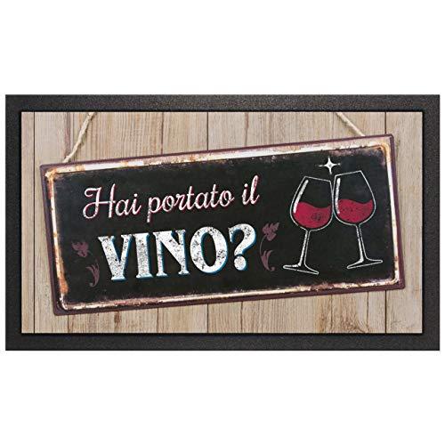 Casa Mia - Zerbino Format Mod. Targhetta 'Hai portato il vino' cm. 40x68 cod. 22046