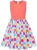 Bonny Billy Little Girl's Polka Dot Tank Dresses for Kids 4-6x Watermelon Red