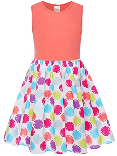 Bonny Billy Girl's Cacual Summer Tank Dresses for Kids Size 12 Watermelon Red