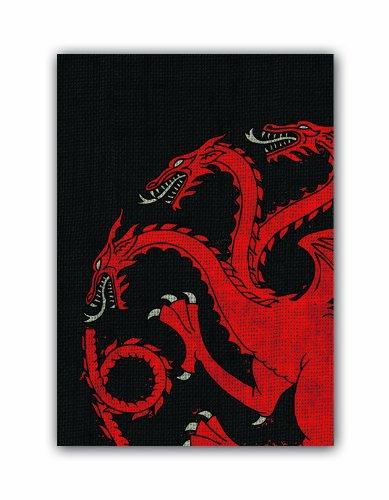 Fantasy Flight Games-Juego_de_Tronos A Game of Thrones Art Sleeves: House Targaryen, Color (Fantasy Flight Inc FBA_330981)