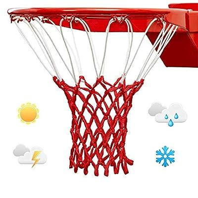 LAO XUE Nightlight Basketball Net Luminous Outdoor Portable Sun Powered Sports Nylon