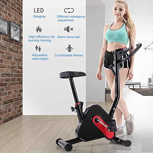 CCHM Cubierta Fitness Bicicleta estática, Resistencia con Velocidad, Inicio Deporte Entrenador Ciclo de la Bici, Resistencia con Velocidad, Bajar de Peso Equipo de la Aptitud