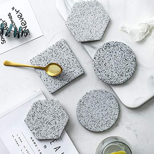 Manyao 1 unids Nuevo Granito patrón cerámica coastera Taza Taza Taza Redondo Taza de Porcelana Alfombra coastera café Taza Taza Taza colocante colchoneta Dropshipping