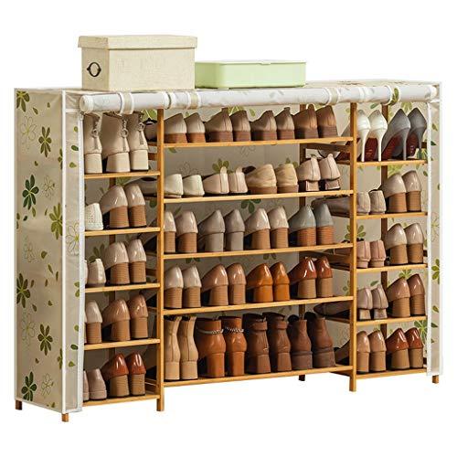Gabinete organizador de almacenamiento de zapatero Zapatero Organizador de almacenamiento de zapatos Torre del gabinete con cubierta de tela Oxford Zapata de estante de pasillo de entrada de unidad