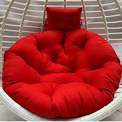 MonthYue Ei stoel kussen, met kussen afneembare schommelstoel kussen opknoping Ei hangmat kussen zonder standaard dikke nest opknoping stoel terug