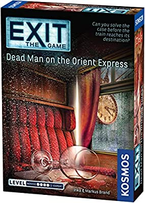 Exit: Dead Man on The Orient Express | Exit: The Game - A Kosmos Game | Family-Friendly, Card-Based at-Home Escape Room Experience for 1 to 4 Players, Ages 12+