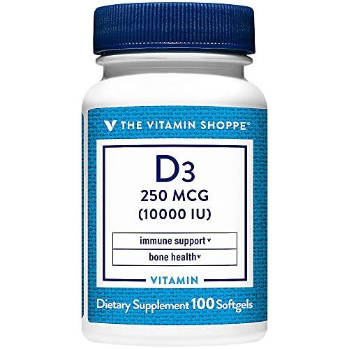 Vitamin D3 Supports Immune Support Bone Health 10,000 IU (100...