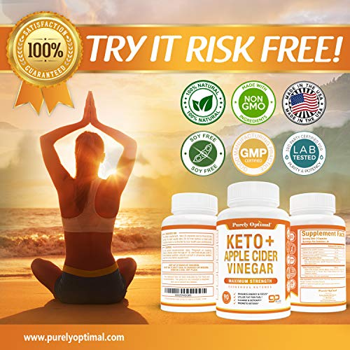 Premium Keto Pills + Apple Cider Vinegar Capsules with Mother - Utilize Fat for Energy with Ketosis, Boost Energy & Focus, Manage Cravings, Metabolism Support - BHB Keto Diet Pills for Women, Men 4