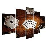 islandburner Bild Bilder auf Leinwand 5 teilig Poker