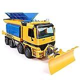 Lihgfw 大きな雪シャベルおもちゃの除雪車のブルドーザーの清掃除雪技術車の子供の車の男の子2歳1/22 (Color : 青)