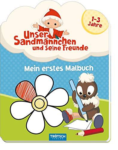 Mein erstes Malbuch 'Unser Sandmännchen und seine Freunde': 1-3 Jahre