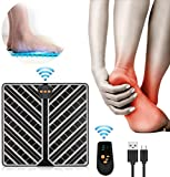 EMS Foot Massager, USB Rechargeable Folding Portable Electric Massage Mat with 1~15 Intensity Levels, Electronic Muscle Stimulatior Feet Massage Promoting Blood Circulation Muscle Pain Relief